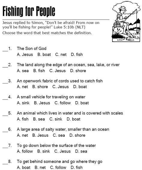 Fishing for People   Multiple Choice Quiz