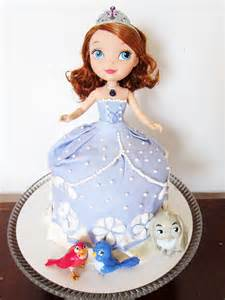 Simple Cake Decoration At Home Sofia The First Doll Cake The Busy Spatula