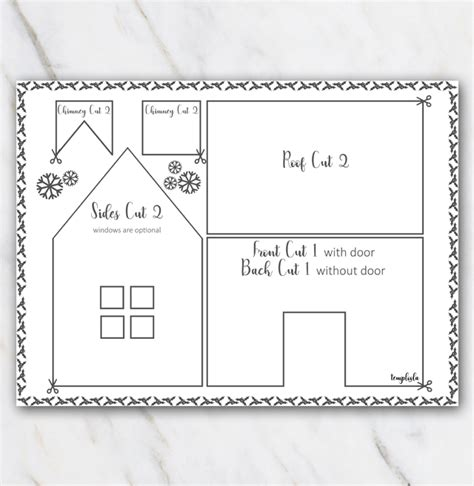 gingerbread house template printable a4 printable gingerbread house template black and white