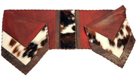 Red Leather Cowhide Leather Table Runner 14 X 72 Cowhide Table Runner