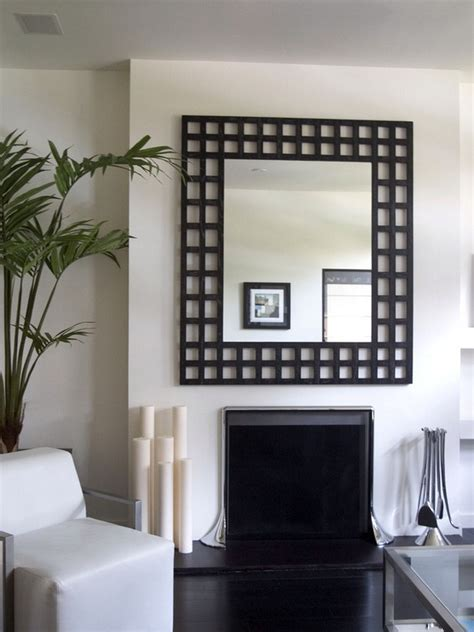how to decorate your living room with black mirrors home