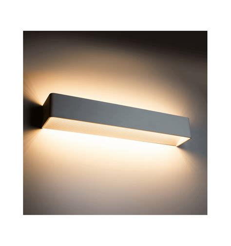 applique a led applique murale led design rectangle quadra 18w