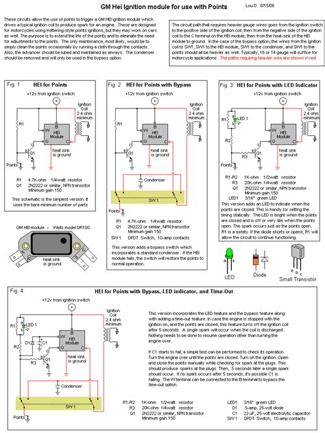 4 pin hei ignition module schematic hei 5 pin to 4 pin