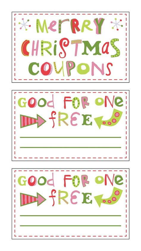 printable xmas coupons best photos of printable christmas coupon book template