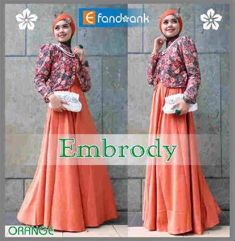 Baju Muslimah Esme E 010311 Pink Summer Dress embrody dress by efan orange baju muslim gamis modern