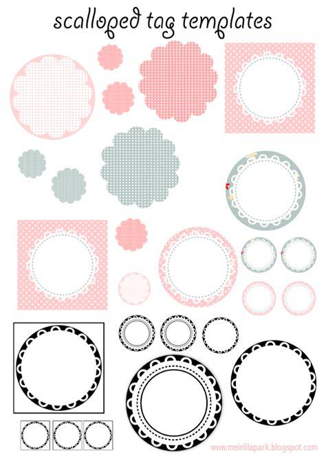 printable round label stickers kostenlos zum ausdrucken backen tag vorlagen muschelrand