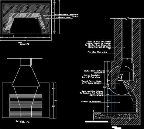 A Place Details Chimney Place Details Dwg Detail For Autocad Designscad