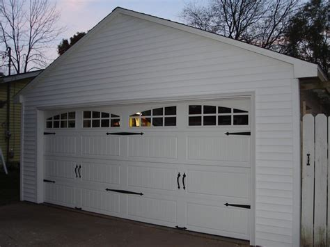 vinyl garage doors detached garage facelift carriage door opener vinyl