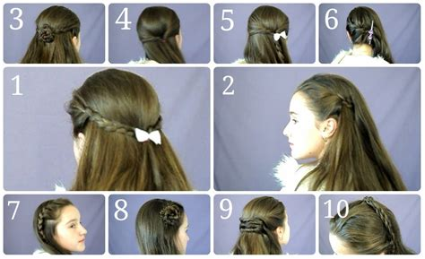 everyday hairstyles step by step 10 easy simple half up hairstyles for everyday youtube
