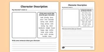 character description template character description writing templates character