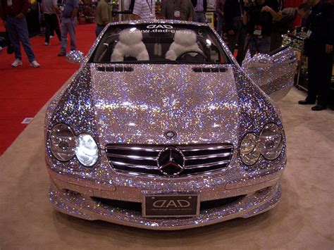 pink sparkly mercedes bling car tribeappeal