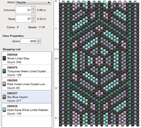 imaginesque beading peyote stitch pattern 15