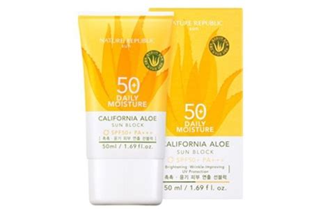 Harga Nature Republic Sunblock Spf 50 nature republic california aloe sunblock daily moisture