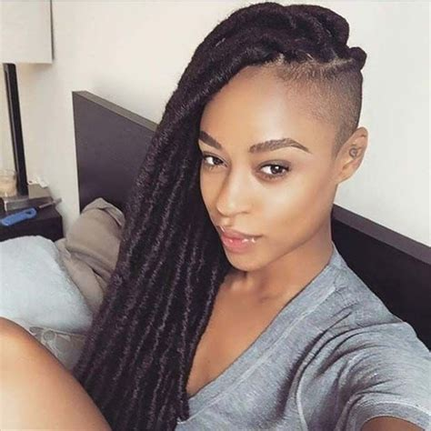 side shave hairsstyle african american 31 faux loc styles for african american women african
