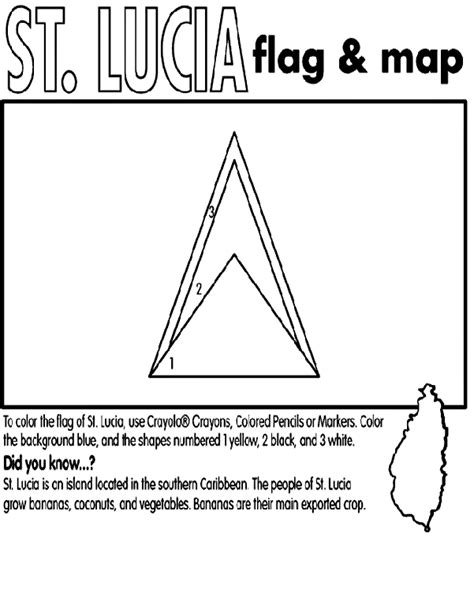 printable st lucia crown st lucia coloring page crayola com
