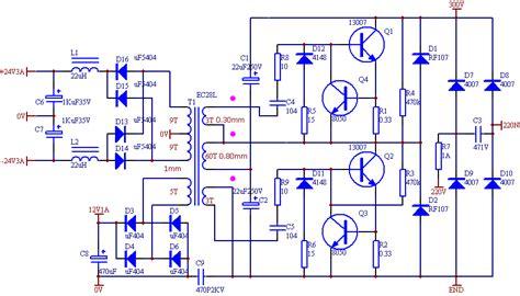 24v smps circuit diagram ei33 2x24 volt 150 watt osc smps circuit electronics