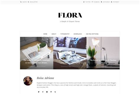 simple blog themes tumblr flora premium responsive tumblr theme
