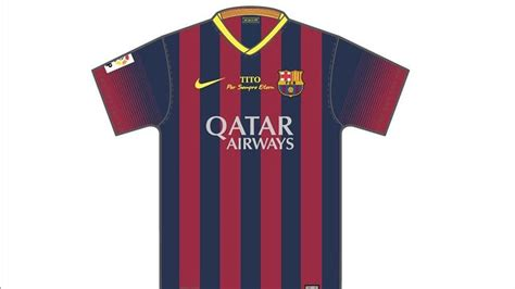 Tshirt Last Goal Club barcelona will wear special tribute shirts for tito