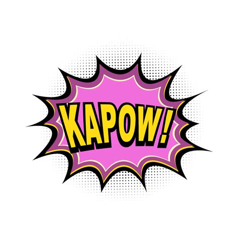 kapow poetry comix books comic book explosion kapow photoshop vectors