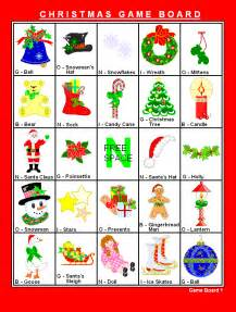 printable bingo christmas game xmasblor
