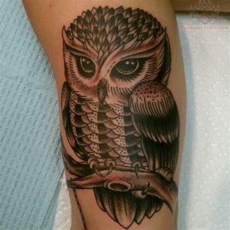 pretty leg tattoo  owl leg tattoo  tattoochiefcom