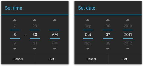 android date picker pickers android developers