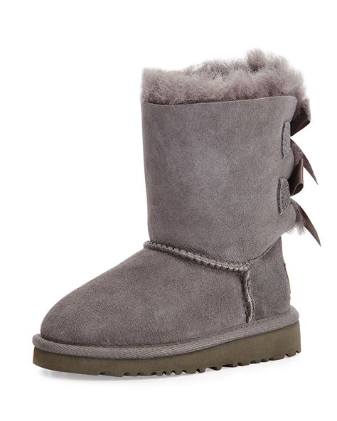 boots with bows ugg bailey boot with bow in gray lyst