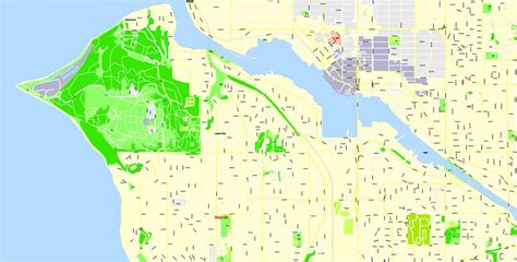 seattle map pdf seattle pdf map wa us exact vector map g view