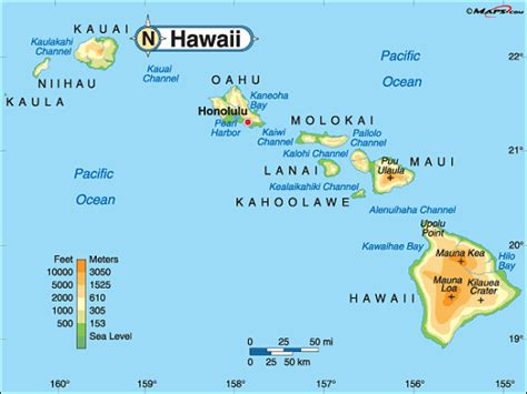 map of us states and hawaii image gallery hawaii map with cities