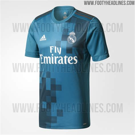 Jersey Real Madrid Away 2017 2018 Set Kit Official Cetak Nama real madrid 17 18 third kit released footy headlines