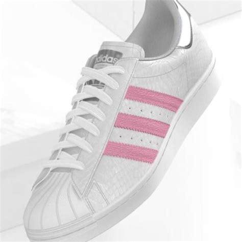 mi adidas superstar white croco pink stripes metallic silver i want pink adidas