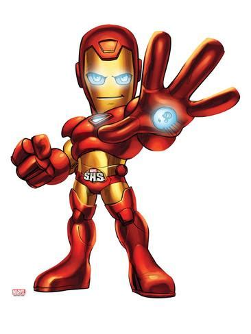 marvel super hero squad iron man posing print at