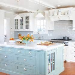 kitchens with different colored islands bhg centsational style