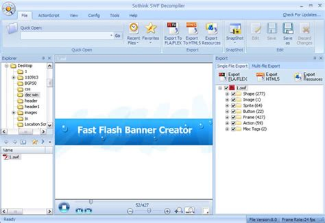 tutorial flash decompiler easily convert flash to html5 animation flash to html5