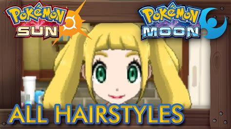 hairstyles in pokemon moon male pok 233 mon sun and moon all hairstyles male female