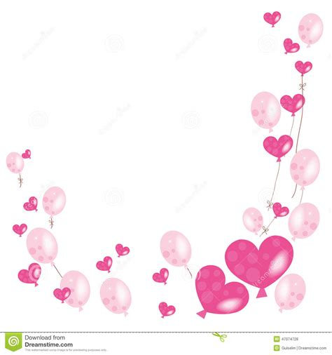 pink balloon wallpaper hearts and pink balloons vector background stock vector