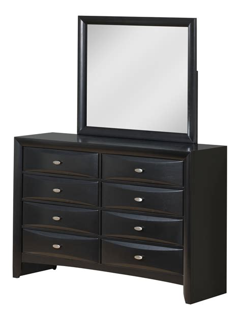 global furniture 4 storage bedroom set in black