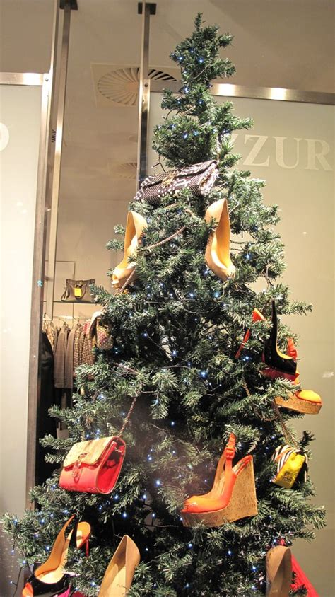 azzurro quot christmas shoes tree quot window display best