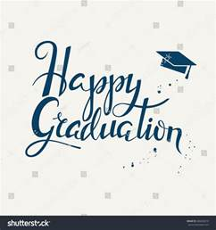 hand drawn lettering poster happy graduation stock vector