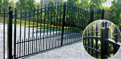 swing bi bi parting swing driveway gate set style concord 4885mm