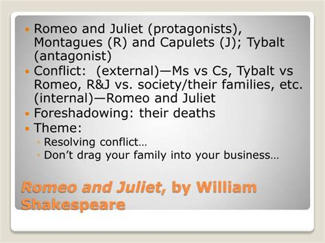 romeo and juliet navigator themes foreshadowing ppt critical lens literature review powerpoint