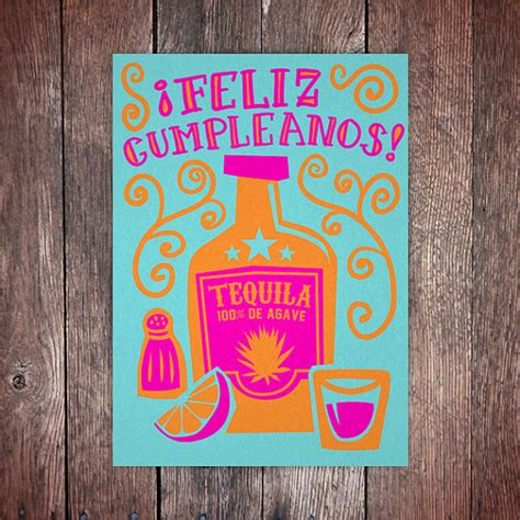birthday tequila tex mex birthday card tequila by beetlebumdesign on