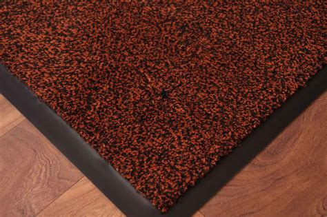washable rug runners mid brown barrier mat non slip washable runner rugs uk ebay