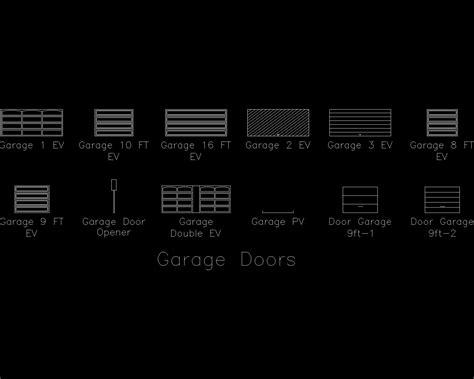 Cad Garage Doors by Autocad Detail Garage Door Dwg