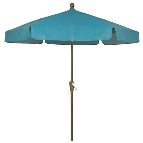 Fiberbuilt Umbrellas 7 5 Ft Patio Umbrella In Teal 7gcrcb Home Depot Patio Umbrellas