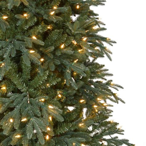 10 foot alim white christmaa tree home accents 10 ft pre lit led meadow set artificial tree with warm