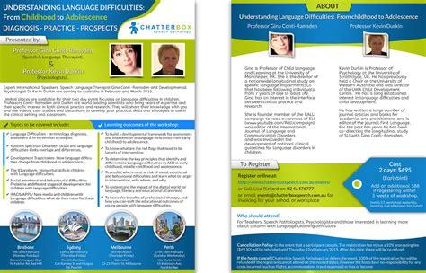 design flyer workshop flyer design for chatterbox speech pathology by cinqsnipe