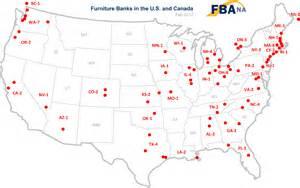 furniture bank association of america map of