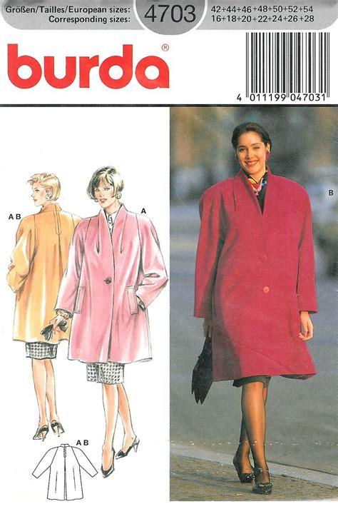 pattern stand up collar burda sewing pattern swing coat stand up collar raglan