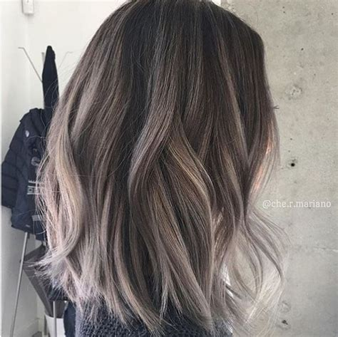 pictures of dark brown hair with gray highlights 22 trendy and tasteful two tone hairstyle you ll love